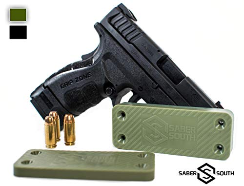 Military-Grade Gun Magnet 2-Pack | 40lbs Rated | HQ Rubber Coated Magnetic Gun Mount for Handgun, Shotgun, Pistol. Easy Conceal in Car, Truck, Vehicle, Desks, Safes, Walls. Non Scratch Surface.