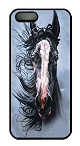 iPhone 5 5S Case -Storm Chaser Horse Black Custom iPhone 5 5S Case Cover