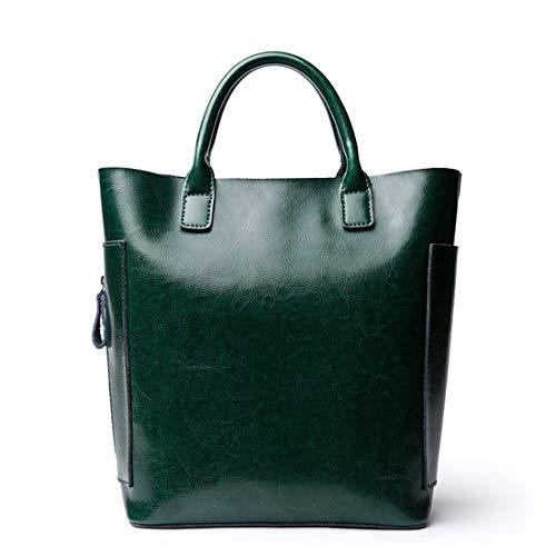 Tracolla Gray Spalla Dark Libero Grande Da Pelle Green Di Diagonale Per Tempo Il Kervinzhang Borsa In A Viaggio color Capacità TSwx78