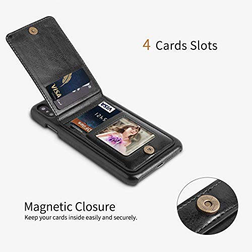 save off bbd9c 7084b SHOPUS | LOHASIC iPhone Xs Max Wallet Case with 4 Card Holder, Slim ...