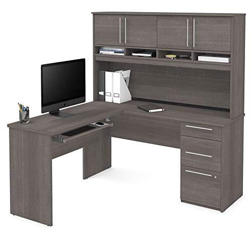 L-Shaped Desk in Bark Gray