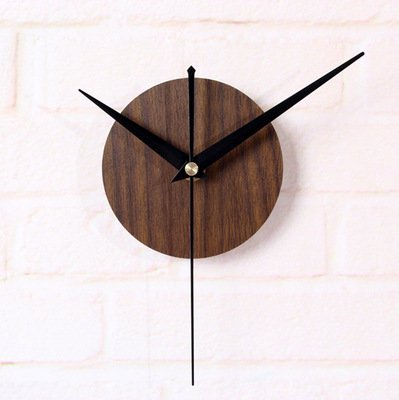 Reliable_E Wood Like Clock Face Power Movement DIY Wall Clock Kit for Home Decor - Wood Clock Kits