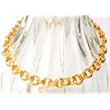 3 in 1 gold tone chain mail bracelet (1070)