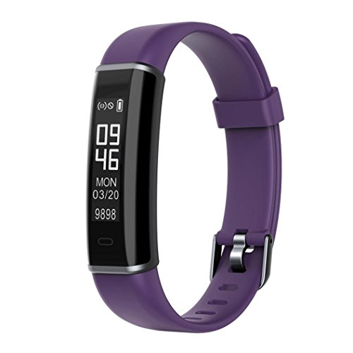 Price comparison product image Fitness Fitness Tracker,  Customized Activity Tracker with Heart Rate Monitor,  14 Sports Modes ID130HR Smart Watch IP67 Waterproof Pedometer for Men,  Women and Kids (Purple)
