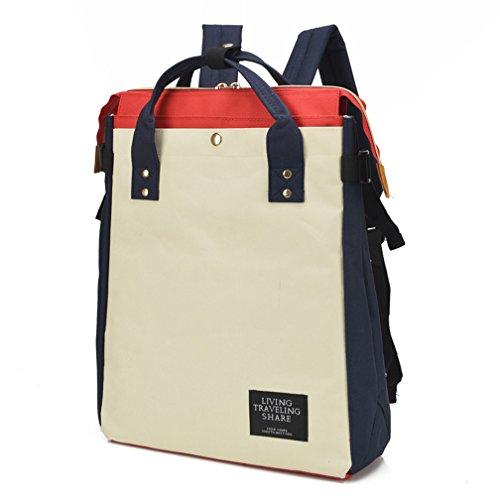 St.Roma - Bolso mochila  de Lona para mujer Talla única caqui