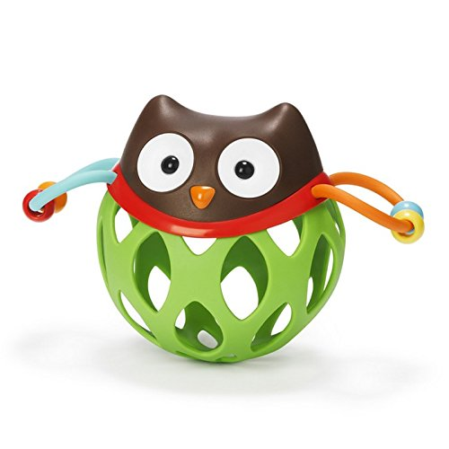 Skip Hop Explore and More Roll Around Rattle Toy, Owl