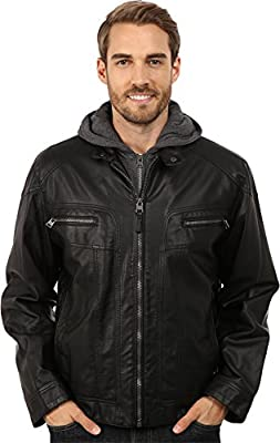 Calvin Klein Men's Faux Leather Hoodie
