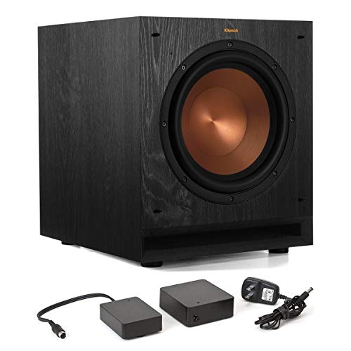 Klipsch SPL-100 10″ Subwoofer (Ebony) with WA-2 Wireless Subwoofer Kit