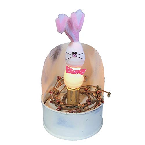 Bunny Accent Lamp Night Light with Rabbit Silicone Dipped Screw Bulb