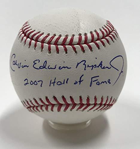 - Cal Calvin Edwin Ripken Jr Hall of Fame Full Name Inscribed Signed Baseball. PSA