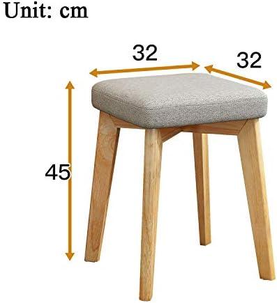 Linge de Maison Chaise Ottoman Repose-Pieds Tabouret, Table Tissu d'ameublement côté Siège, Chaise Vanity, Chaise avec Pieds en Bois pour Le Salon, Chambre