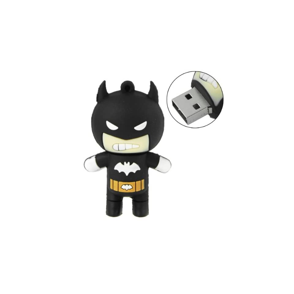 16GB USB Flash Drive Cool Batman Shape 16G Memory Stick U Disk   Black