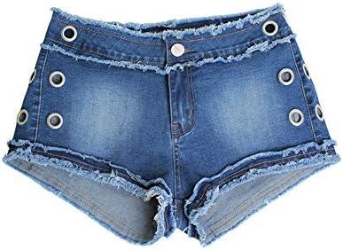 4129b348ae HUBINGRONG Pantalones Cortos crudos elásticos de Primavera y Verano nuevos  Pantalones elásticos sin Mangas con Flecos Pantalones de Cintura (Color    Blue