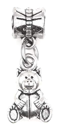 It's All About...You! Teddy Bear Dangling European Bead Charm 86Y