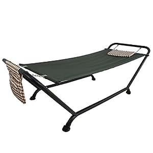 Deluxe hamaca con soporte al aire libre Patio Jardín Patio muebles capacidad 507lbs