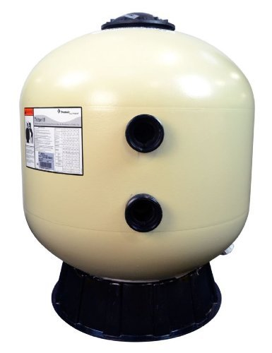 Pentair 140315 Triton C High Capacity Fiberglass Side Mount Sand Pool Filter, 4.91 Square Feet, 98 GPM (Residential), without Valve or Unions