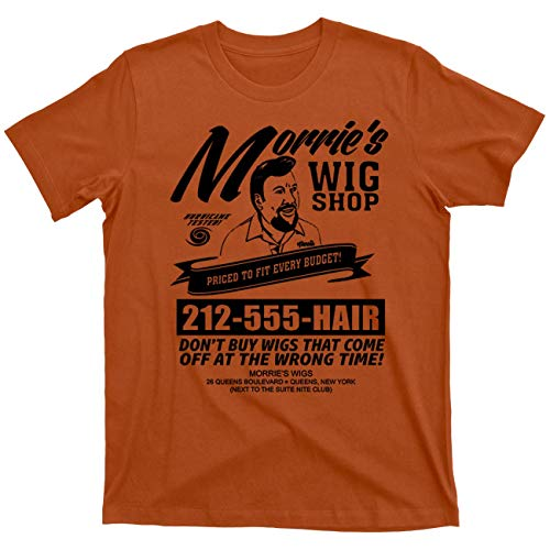 Morrie's Wigs Wig Shop Goodfellas Movie Gangster Mob Mobster Mafia 100% Cotton T Shirt (Queen's Vintage Orange, 2XL)