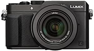 Panasonic Lumix DMC-LX100 Digital Camera, 12.8MP, 3.0-Inch Display, 24-75mm Leica DC Vario-Summilux f/1.7-2.8 Lens, 4K Ultra HD Video, HDMI/USB, Wi-Fi, NFC (Black) - International Version