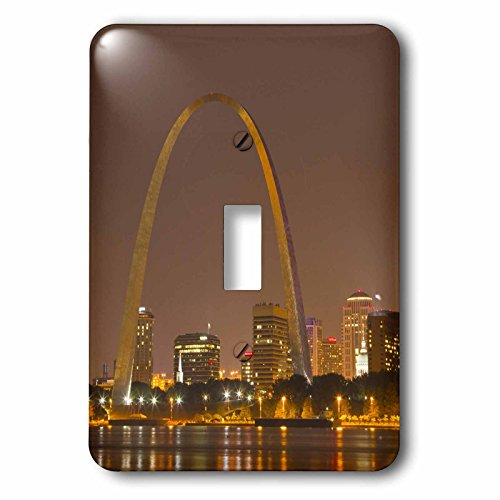 (3dRose lsp_91510_1 Gateway Arch, St Louis, Mississippi River, Missouri Us26 Cha0012 Chuck Haney Single Toggle Switch)