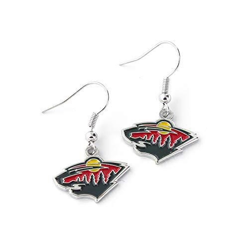 NHL Minnesota Wild Logo Dangler Earrings
