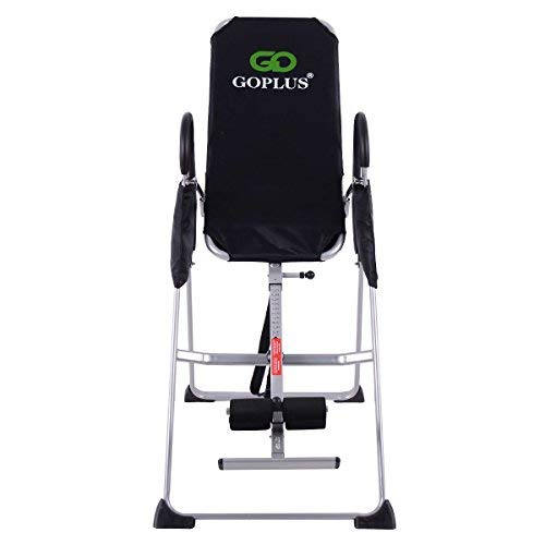 Amazon.com : Goplus Gravity Fitness Therapy Inversion Table Adjustable Folding Back Therapy Table Reflexology (Inversion Table) : Sports & Outdoors