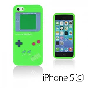 OnlineBestDigital - Gameboy Style Silicone Case for Apple iPhone 5C - Green