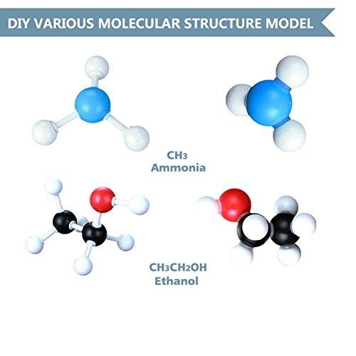 SIMPZIA 240 Pcs Organic Chemistry Model Kit  Molecular Model kit, Chemistry Organic and Inorganic Modeling Students Set with Manual & Atoms, Bonds for Students, Teachers & Scientists by SIMPZIA (Image #5)