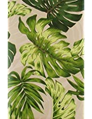 Palm Leaves Collection Vinyl Flannel Back Tablecloth (52