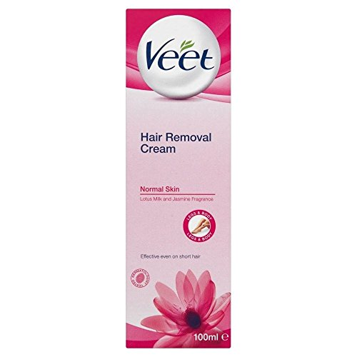 Veet Hair Removal Cream Normal Skin with Lotus Milk & Jasmine (100ml) - Pack of 2
