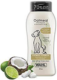 Wahl Dry Skin & Itch Relief Pet Shampoo for Dogs – Oatmeal Formula with Coconut Lime Verbena & 100% Natural Ingredients – 24