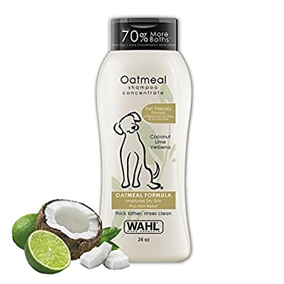 Wahl-Dry-Skin-Itch-Relief-Pet-Shampoo-for-Dogs-Oatmeal-Formula-with-Coconut-Lime-Verbena-100-Natural-Ingredients-24-Oz
