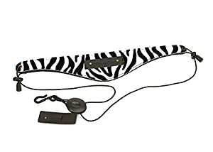 Beaumont Neck Strap for Clarinet, Saxophone light alto,Soprano,Oboe and English Horn - Zebra