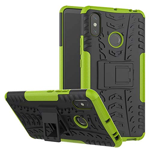 Magnetic Cushion Grip - Xiaomi Mi Max 3 case, Lisuixi [Texture Non-Slip Design] Full Body Kickstand Case Heavy Duty Durable Rugged [Dirtproof Shockproof] Dual Layer Rubber Hybrid Hard Cover for Xiaomi Mi Max 3 6.9
