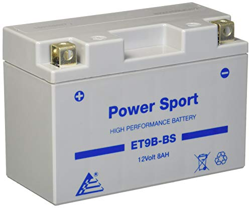 ExpertPower ET9B-BS 12v8ah YT9B-BS Replacment Sealed Maintenace Free 12V High Performance Powersport Motorcycle Battery