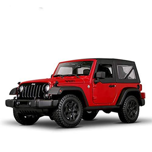 WSWJJXB Jeep Jeep Wrangler Modelo de Coche Adornos Modelo de Coche de aleación de simulación Todoterreno, Opcional (Color : Red Belt) por WSWJJXB