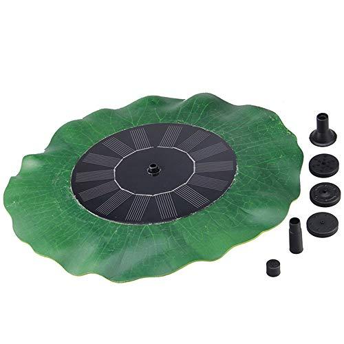 Fuente de la bomba de agua solar OYJJ, versión mejorada de la fuente de forma de hoja de loto verde durable 7V hoja de loto...
