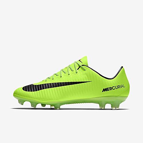 Nike Men's Mercurial Vapor XI FG Soccer Cleat (Sz. 9) Electric Green