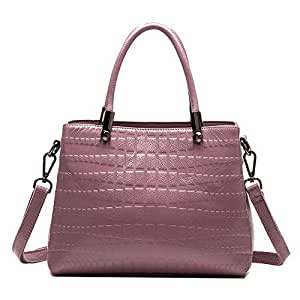 TWTAI Simple Multi-Function Large Capacity Shoulder Bag Shoulder Slung Leather Handbag (Color : Purple)