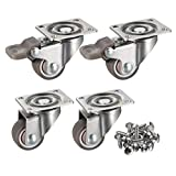 "bayite 4 Pack 1"" Low Profile Casters Wheels Soft"