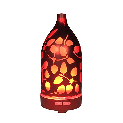 Yu2d  Glass Night Lights Diffusers Humidifier 7 Colour Changing LED Lights Aroma -