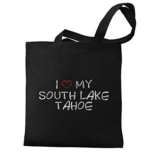 Eddany I love my South Lake Tahoe Canvas Tote - South Lake Shopping Tahoe