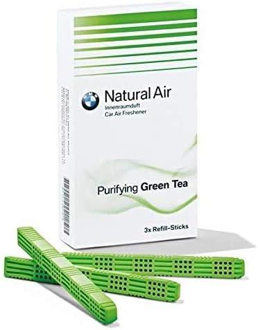 BMW Genuine Natural Air Car Ambientador té verde Sticks Kit de carga (83122298517)