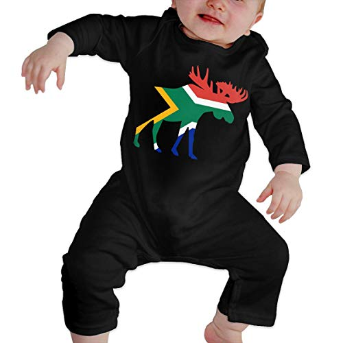 U99oi-9 Long Sleeve Cotton Rompers for Unisex Baby, Fashion South Africa Moose Crawler Black]()