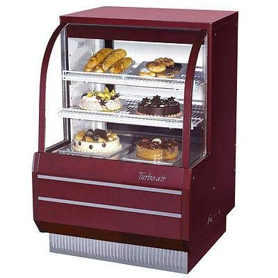 (Turbo Air TCGB-36DR-R-N Curved Glass Bakery Case)