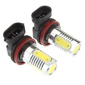 NBCVFUINJ® H8 6W 4-LED 480LM 6000K refrescan la lámpara LED de luz blanca para el coche (10-24V, 2 pcs)