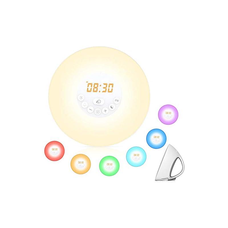 Sunrise Alarm Clock,Hallomall Wake Up Li
