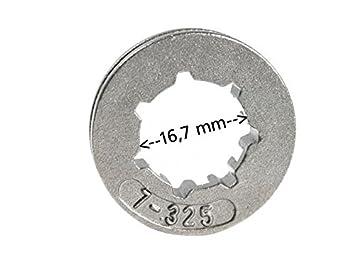 "Ringrad 325/"" 7z 16,7mm para Stihl 026 ms260 MS 260"