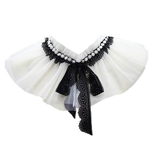 Blouse False Collar Lace Flower Fake Collar Choker Peter Pan Necklace (A) (Collar Rhinestone Party)