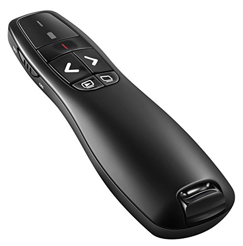 BlueBeach Wireless USB Presenter PowerPoint Remote Control Laser Pointer for PPT / Keynote / Prezi / OpenOffice / Windows / Mac OS / Android / Linux