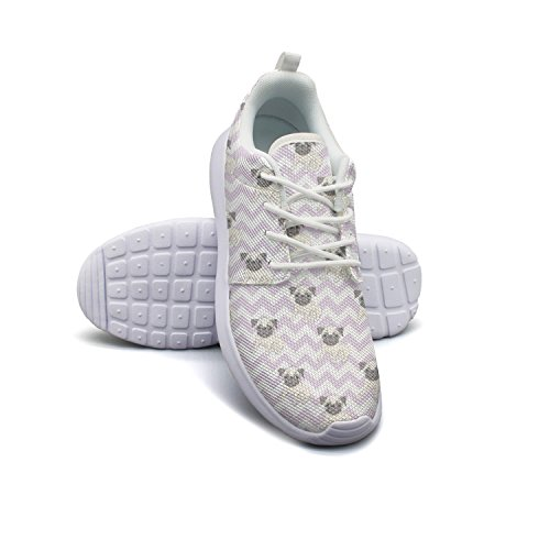 Womens for Hoohle Cute Men Casual Blue Flex Mesh Shoes One Sports Dog Faces Young Roshe aapxYHA